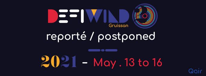 Defi Wind 2020 annulé et reporté en 2021